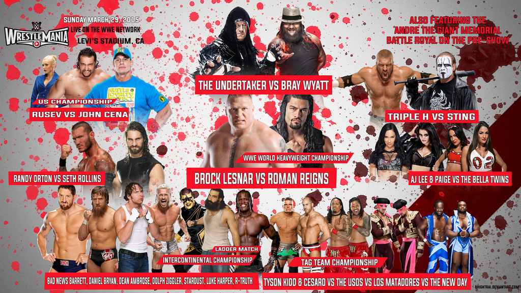 WWE Wrestlemania 31 Match Card Wallpaper by brightrai