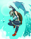 Tifa's Dolphin blow! by DiegoMends