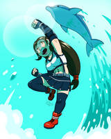 Tifa's Dolphin blow! by Digsaw