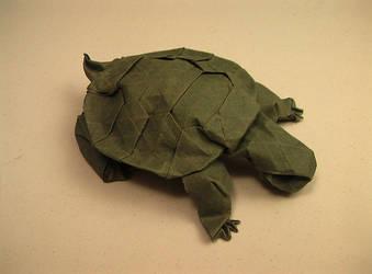 Western Pond Turtle Origami by kyokamih