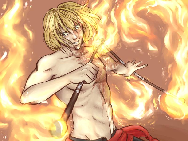 Mello the firespinner by eternitymaze