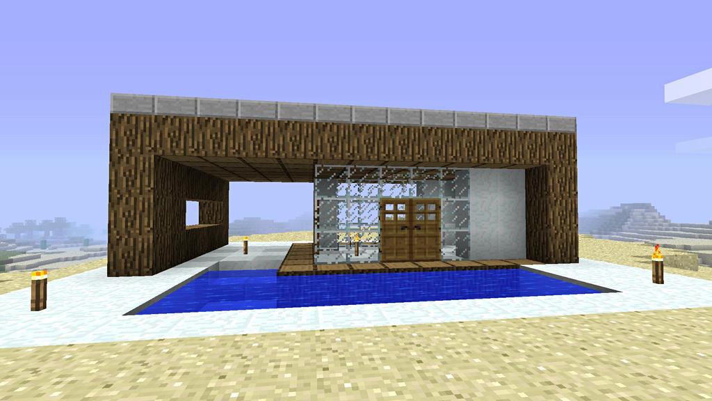 Log house rear by burntcustard