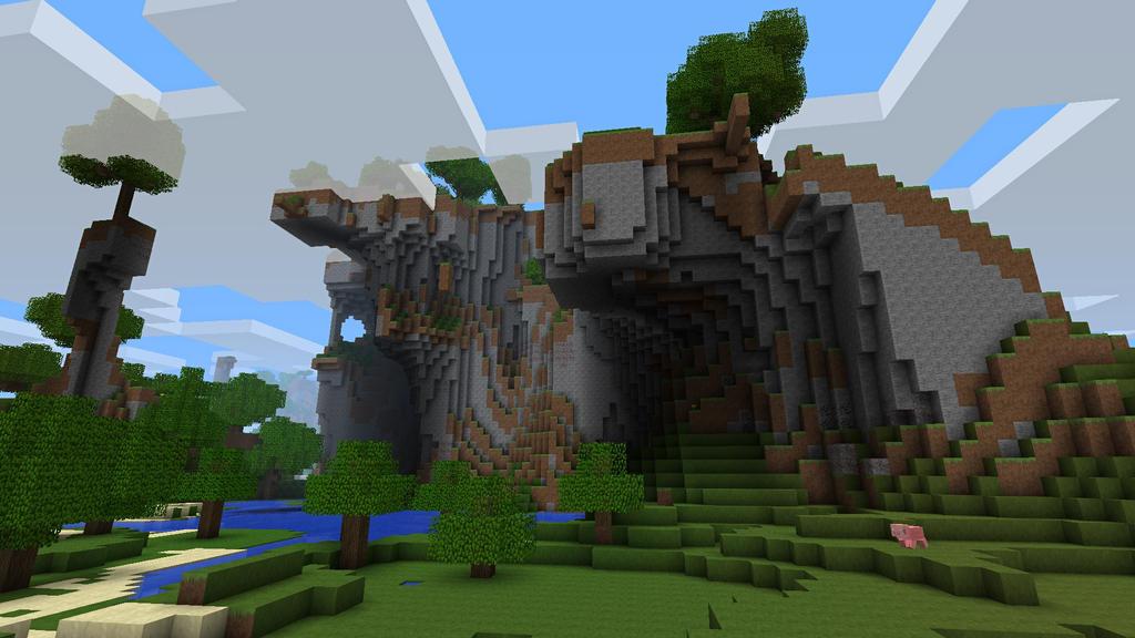 Cliffside with Mr crazypig by burntcustard