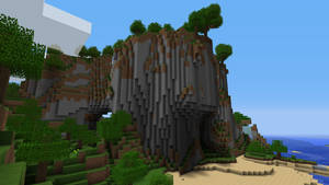 Minecraft Cliff by burntcustard
