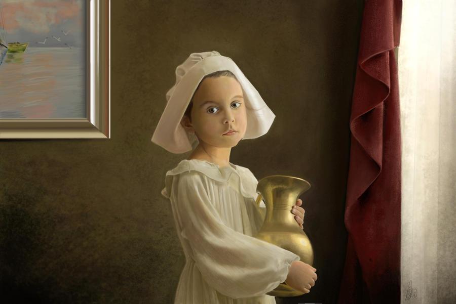 Little girl by leonardomundim