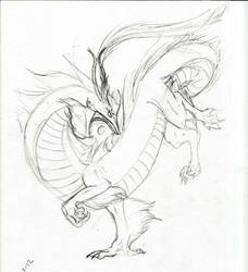 Eastern style dragon by Zanora-zara