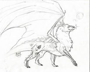 Fluffy dragon by Zanora-zara