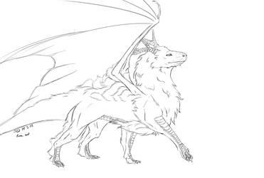 Fluffy dragon digital by Zanora-zara