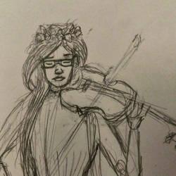 violin girl by Zanora-zara