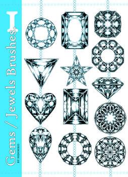 Brush Set CSP: Gems and Jewels 1