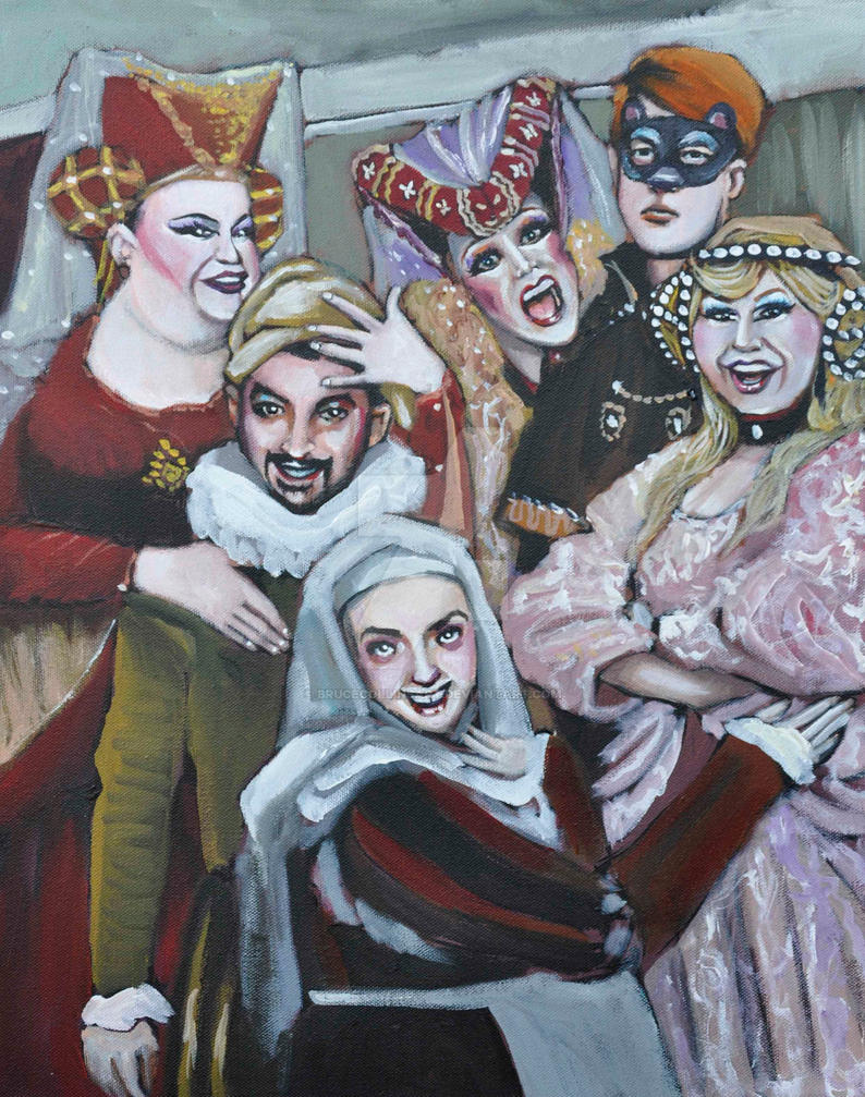 The Crummles Theater Troupe by BruceCollinsArt