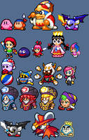Kirby and Dream Friends - KSSU style sprites by The-Hoennest