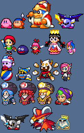 Kirby And Dream Friends Kssu Style Sprites By The Hoennest On