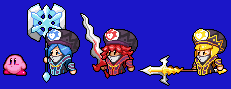 Kirby Jambastion Mages Weapons KSSU style sprites by The-Hoennest