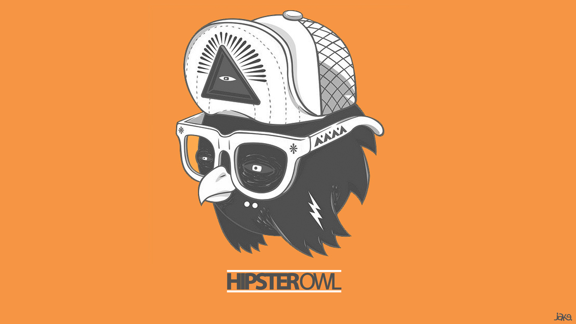 Hipster Owl wallpaper - 989676
