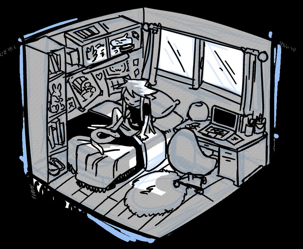 Sophia's bedroom by C0R4