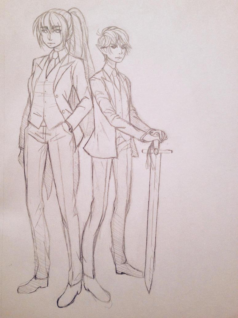 Carolynn and Kyle sketch  by C0R4