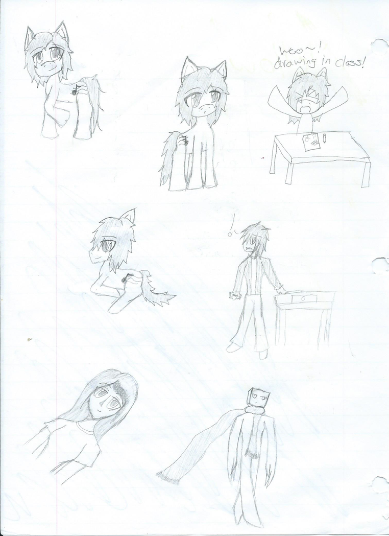 School doodles by Oculus-Prime