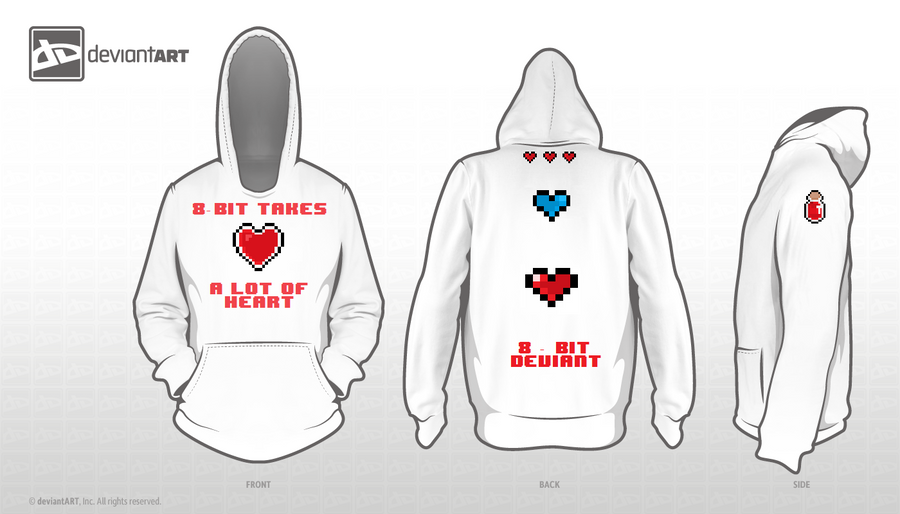 8-Bit takes a lot of Heart (8-bit Hoodie design) by Celestion