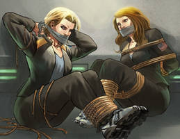 Starbuck and Dr Keller by Taclobanon