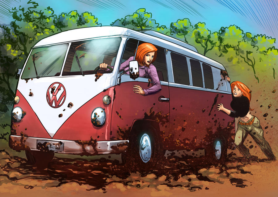 Kim And Ann Possible Stuck In The Mud By Taclobanon On