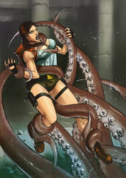 Lara Croft in Peril by Taclobanon
