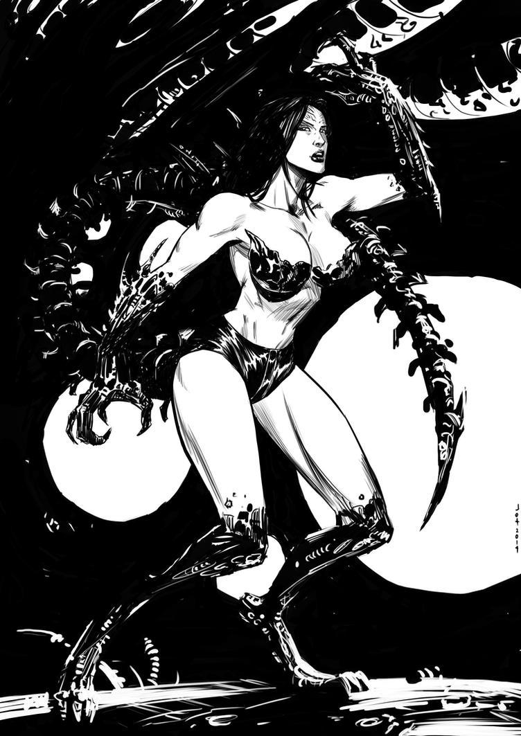Xenomorph Girl for Ashley K by Taclobanon