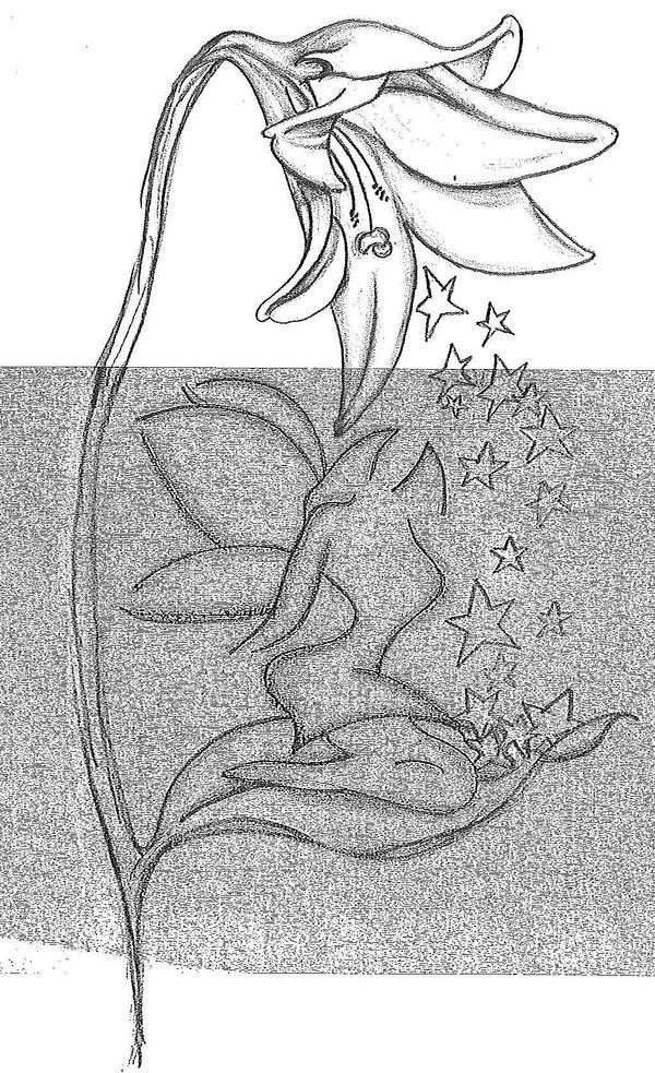 bell flower tattoo by tlea on deviantart. Black Bedroom Furniture Sets. Home Design Ideas