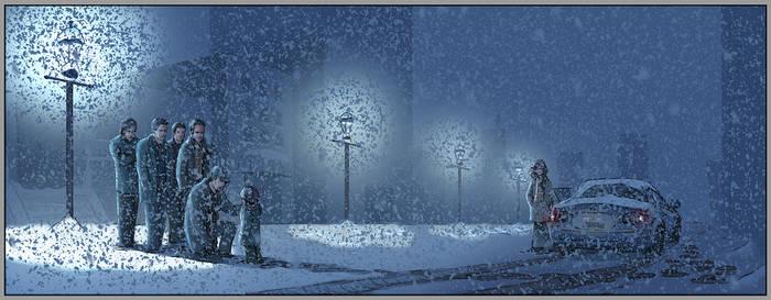 Snowy Farewell