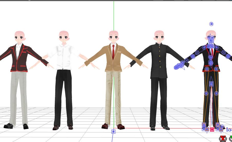 [MMD] Uniforms Male [Yandere Simulator] [W.I.P] by TomokiHigaku on DeviantArt