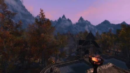 Skyrim Wallpaper 5 - Steps of Dragonsreach