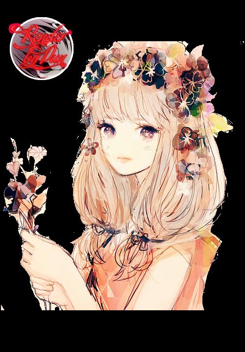 Арт девушек с цветами