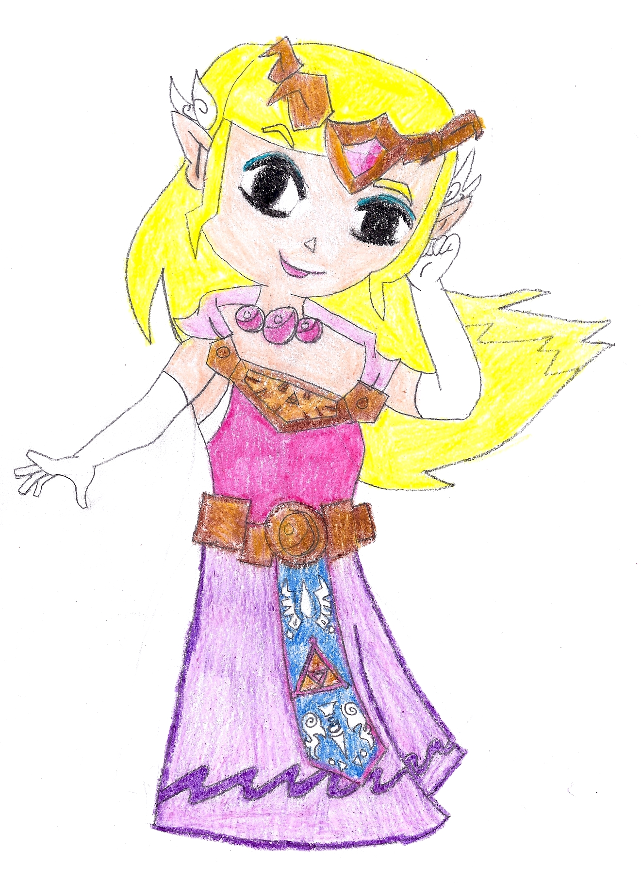 princess zelda spirit tracks 1 by zeldamileyiliafan on