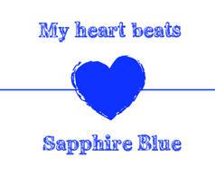 My heart beats Sapphire Blue by KimCaLee