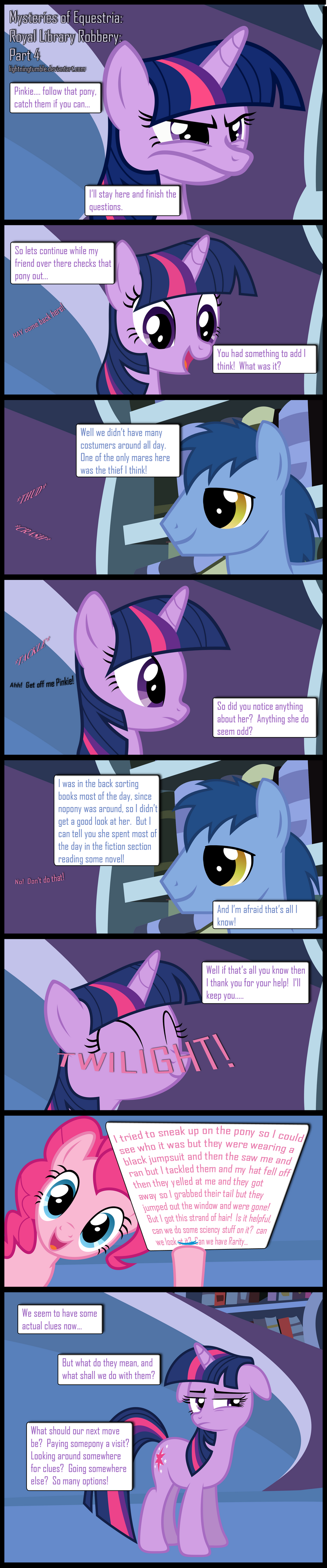 Mysteries of Equestria: Library Robbery: Part 4 by lightningtumble