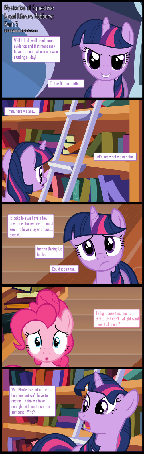 Mysteries of Equestria: Library Robbery: Part 5 by lightningtumble
