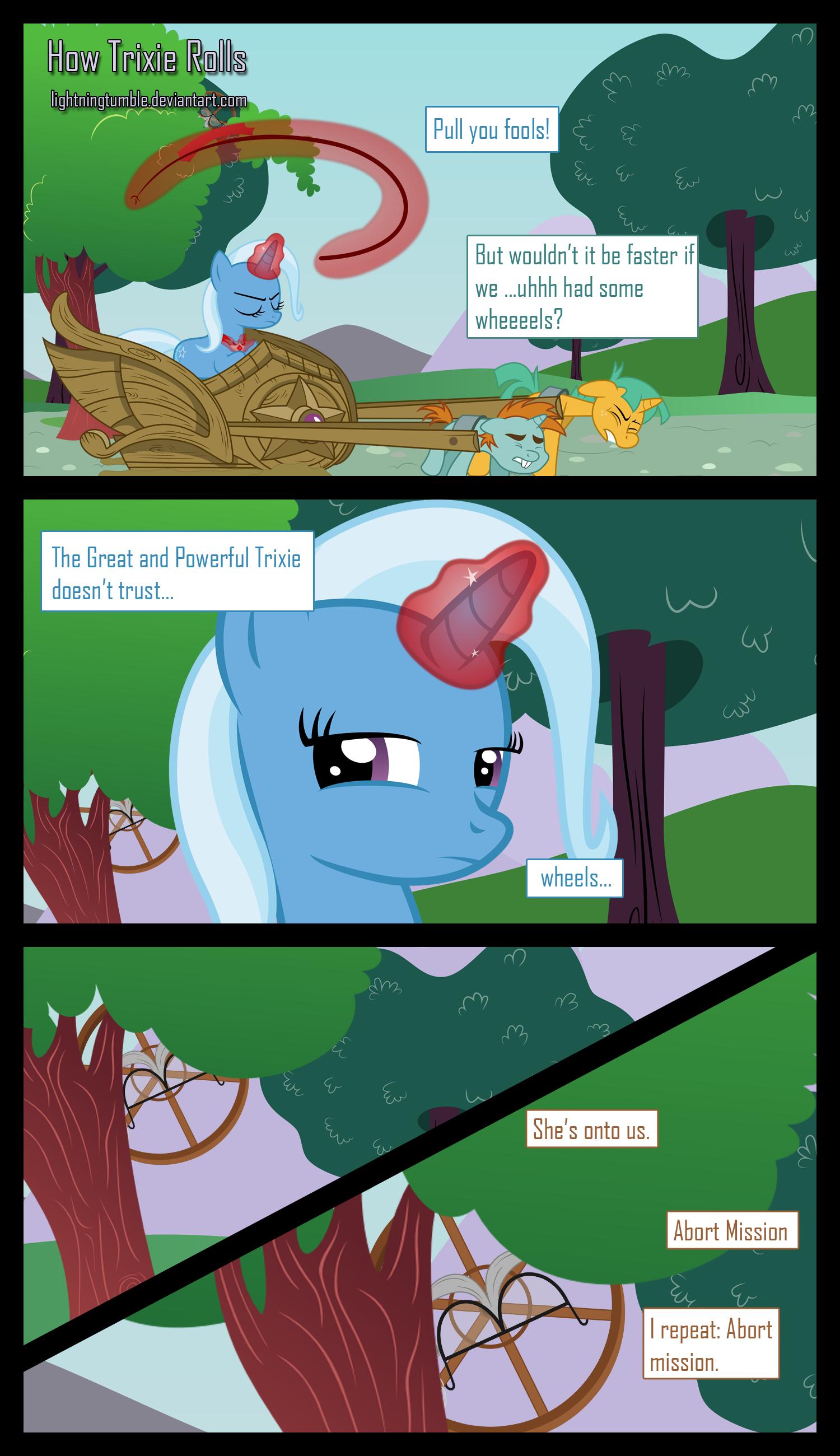 How Trixie Rolls by lightningtumble