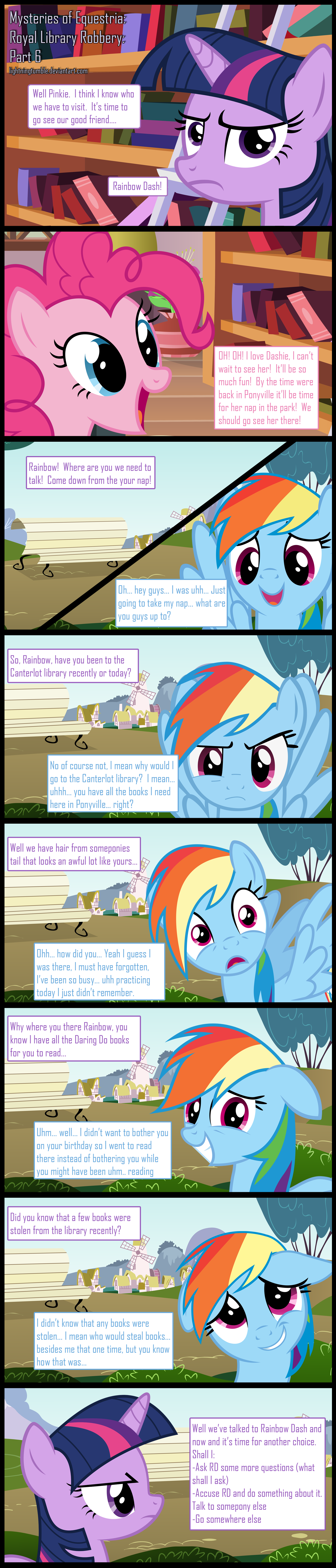 Mysteries of Equestria: Library Robbery: Part 6 by lightningtumble