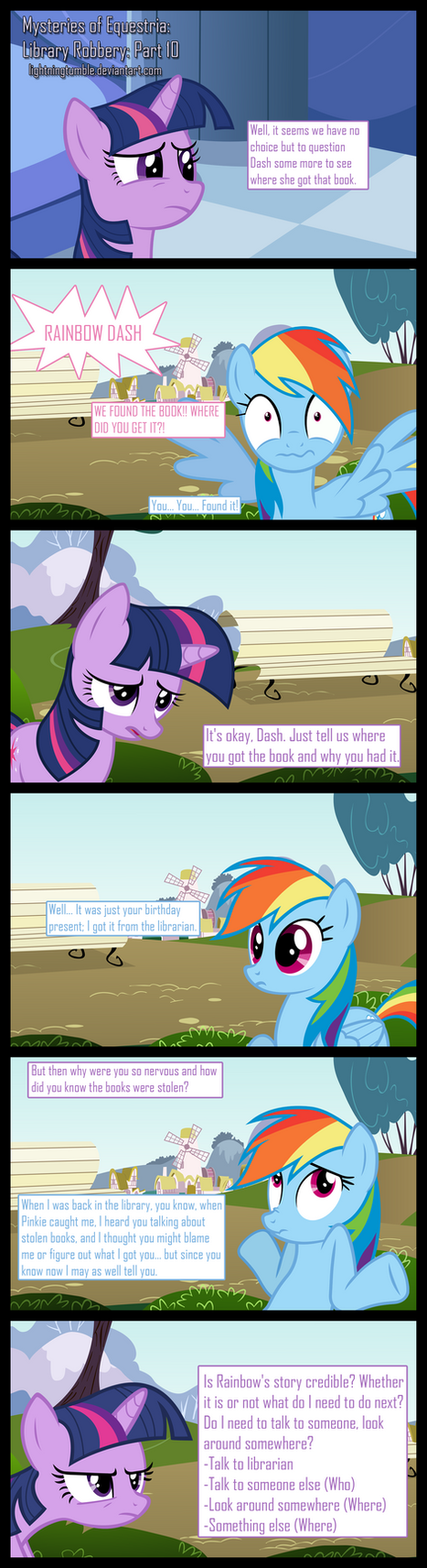 Mysteries of Equestria: Library Robbery: part 10 by lightningtumble