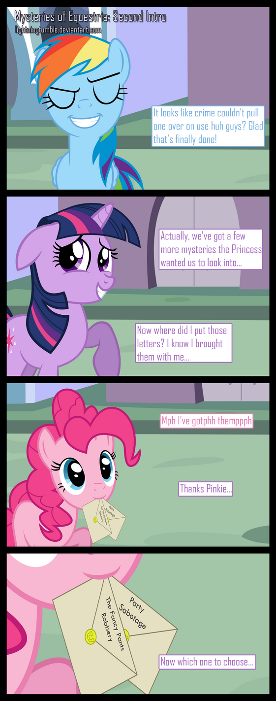 Mysteries of Equestria: Round 2 by lightningtumble