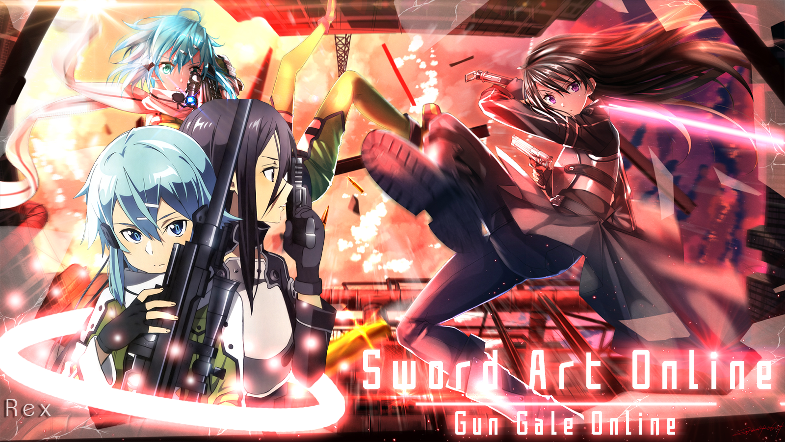 Wallpaper Sword Art Online 2 Gun Gale Online By Design Rex On
