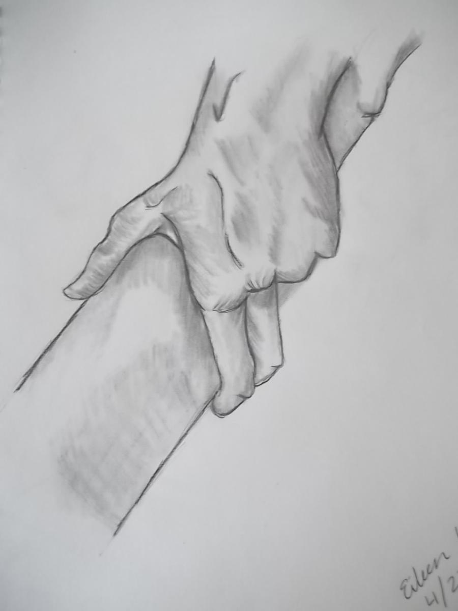 how to draw helping hands