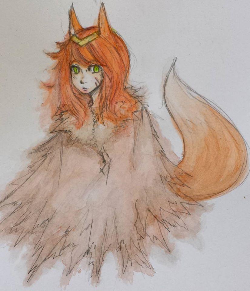 Watercolor #2 - Fox by Luycaslima