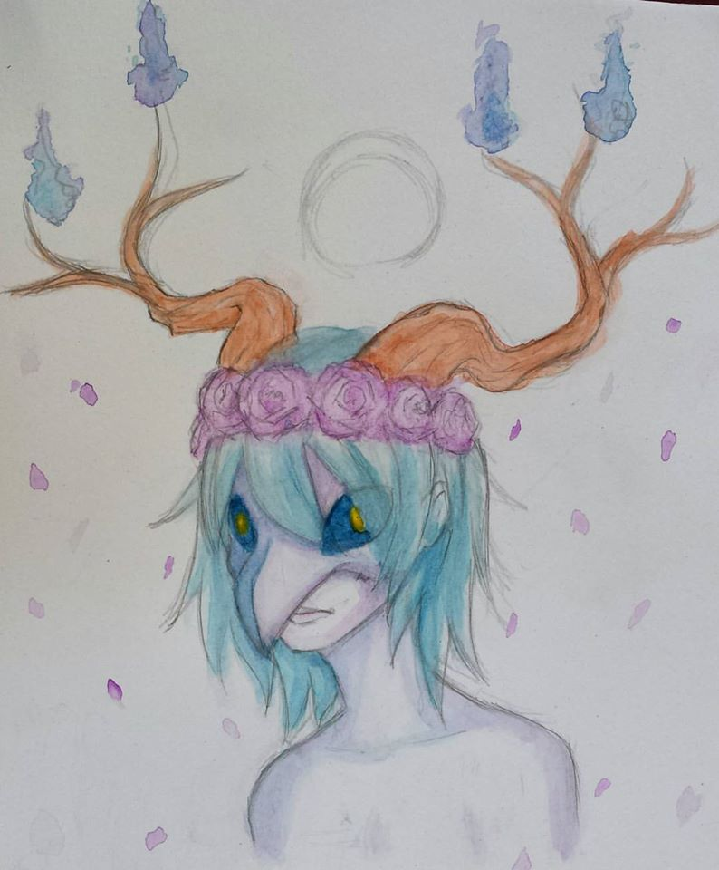 Watercolor #3 - Masked Spirit by Luycaslima