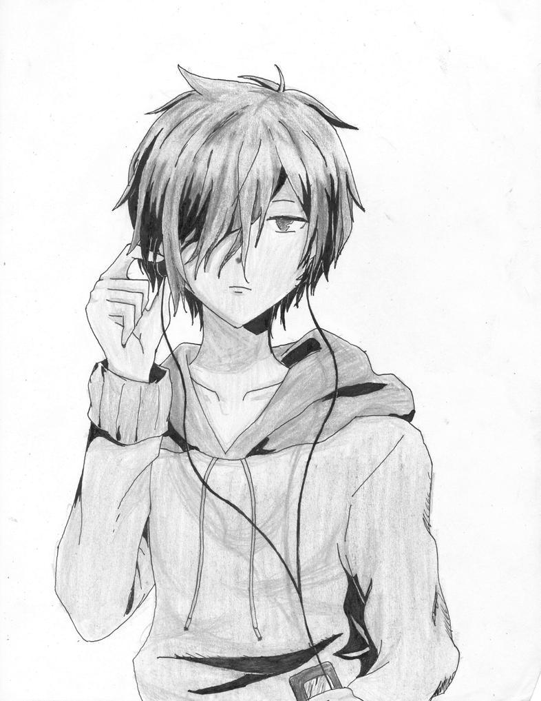 Anime Manga Guy Shaded By Gijoerenegades