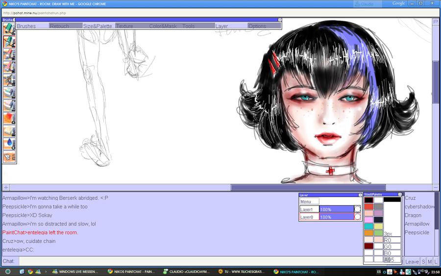 Gothic girl by Dame-Cruz