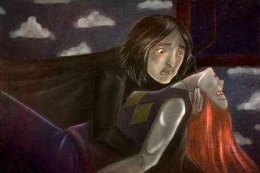 Severus Snape and Dead Lily by Dame-Cruz