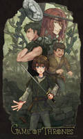 Arya/Gendry/Hotpie/Jaqen