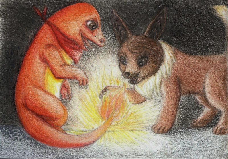 Pokemon Sisters - Fire Play by Dani-Claw