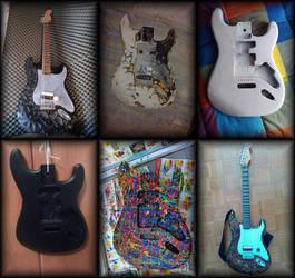 Custom Frankenstein Guitar Update